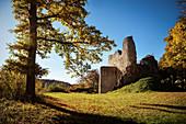 Ruin of Falkenstein Castle in the Upper Danube Valley Nature Park, Danube, Germany