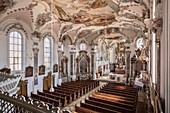 Frescoes in the parish church of St Martinus, Erbach, Alb-Donau district, Danube, Baden-Württemberg, Germany