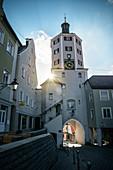 Unteres Tor zur Altstadt von Günzburg, Regierungsbezirk Schwaben, Bayern, Donau, Deutschland