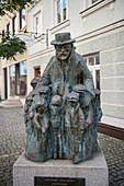 Sculpture in the old town of Günzburg, administrative district of Swabia, Bavaria, Danube, Germany