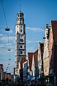 Schimmelturm in Lauingen, Dillingen district, Bavaria, Danube, Germany