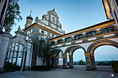 Schlosskirche, Schloss Leitheim, Markt Kaisheim, Landkreis Donau-Ries, Bayern, Donau, Deutschland