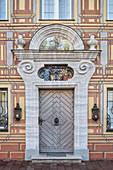 ornate door, Neuburg an der Donau, Neuburg-Schrobenhausen district, Bavaria, Germany