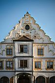 Magnificent building on Karlsplatz, Neuburg an der Donau, Neuburg-Schrobenhausen district, Bavaria, Germany