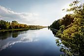 the Danube near Oberelchingen, Neu-Ulm district, Bavaria, Germany