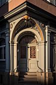 historical door arch in the old town of Tuttlingen, Baden-Wuerttemberg, Danube, Germany