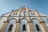City Church of St Peter and Paul with Art Nouveau facade, Tuttlingen, Baden-Württemberg, Danube, Germany