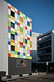 modern and colored hotel in Tuttlingen, Baden-Wuerttemberg, Danube, Germany
