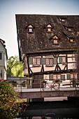 "the ""Schiefe Haus"" is a hotel in the Fischerviertel, Ulm, Danube, Swabian Alb, Baden-Württemberg, Germany"