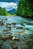 View across the Halch to the Ammergau Alps, Halch, Allgäu, Bavaria, Germany, Europe