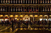 Nightly concert on St. Mark's Square in Venice, Veneto, Italy, Europe