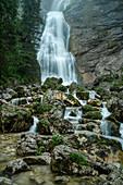 The waterfalls at the Kenzenhütte, Allgäu, Bavaria, Germany, Europe