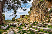 In the ruins of Syedra, Alanya, Turkish Riviera, Mediterranean Region, Asia Minor, Turkey