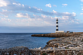 The lighthouse from Cap d'Artrutx, Ciutadella. Menorca, Balearic Islands, Spain, Europe