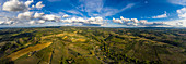 Aerial view of the Chianti region, east of Pogibonsi, Tuscany, Italy