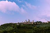 San Gimignano in sunrise, Province of Siena, Tuscany, Italy