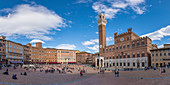 Piazza del Campo in Siena, Province of Siena, Tuscany, Italy