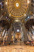 The dome in the Siena Cathedral, Siena, Province of Siena, Tuscany, Italy
