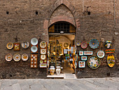Crafts In The Streets Of Siena, Province Of Siena, Tuscany, Italy