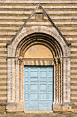 Grand entrance gate of the Church of San Francesco, Lucignano, Arezzo Province, Tuscany, Italy
