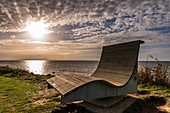Field sofa on the steep coast of Gold on Fehmarn, Baltic Sea, Ostholstein, Schleswig-Holstein, Germany