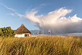 Reetkate beach chair rental on the beach in Dahme, Baltic Sea, Ostholstein, Schleswig-Holstein, Germany