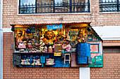 Original facade decoration, shop, grocery store, capital Antananarivo, Madagascar, Africa