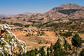 Soavinandriana village in the highlands of Madagascar, Africa