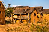 Village in the highlands of Madagascar near Ambalavao, Africa