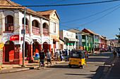 Busy street scene in the city of Ihosy, Bara tribe, Ihorombe region, highlands of Madagascar, Africa
