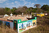 Burial sites in western Madagascar, Africa
