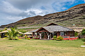 Exterior view of the Te Tumu Cultural Center, Tekoapa, Ua Huka, Marquesas Islands, French Polynesia, South Pacific