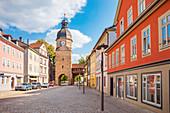 Ketschentor und Ketschengasse in Coburg, Oberfranken, Bayern, Deutschland