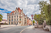 Mohrenstrasse in Coburg, Upper Franconia, Bavaria, Germany