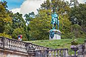 Reiterdenkmal Herzog Ernsts II im Hofgarten in Coburg, Oberfranken, Bayern, Deutschland