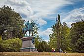 Equestrian monument to Duke Ernst II in the Hofgarten in Coburg, Upper Franconia, Bavaria, Germany