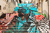 Street art, Noto, Sicily, Italy