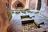 Arabic wash fountain, Cefalu, Sicily, Italy