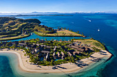 Aerial view from Six Senses Fiji Resort, Malolo Island, Mamanuca Group, Fiji Islands, South Pacific