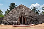Replica of the traditional royal hut at the Royal Palace Museum of King Mutara III Rudahigwa in 1931, Nyanza, Southern Province, Rwanda, Africa