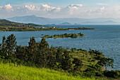 Coast from Lake Kivu, Kinunu, Western Province, Rwanda, Africa