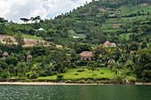 Kivu Paradis Hotel Resort on the banks of Lake Kivu, Nyamyumba, Western Province, Rwanda, Africa
