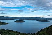 Islands in Lake Burera, near Kinyababa, Northern Province, Rwanda, Africa