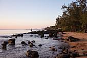 Rocks at Ong Lang Beach at sunset, Ong Lang, Phu Quoc Island, Kien Giang, Vietnam, Asia