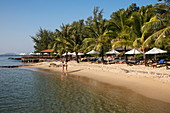 People relaxing at Ancarine Beach Resort on Ong Lang Beach, Ong Lang, Phu Quoc Island, Kien Giang, Vietnam, Asia