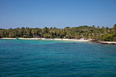 Beach with coconut palms, May Rut Island, near Phu Quoc Island, Kien Giang, Vietnam, Asia