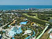 Aerial view of Vinpearl Land Phu Quoc Amusement Park and Golf Course, Ganh Dau, Phu Quoc Island, Kien Giang, Vietnam, Asia
