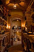 Interior of a Portuguese winecellar built in brick.