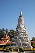 Stupa inside the Royal Palace complex, Phnom Penh, Cambodia, Asia