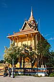 Buddhist temple, Oknha Tey Island, Mekong River, near Phnom Penh, Cambodia, Asia